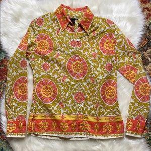 Lucky brand boho lounge shirt size M